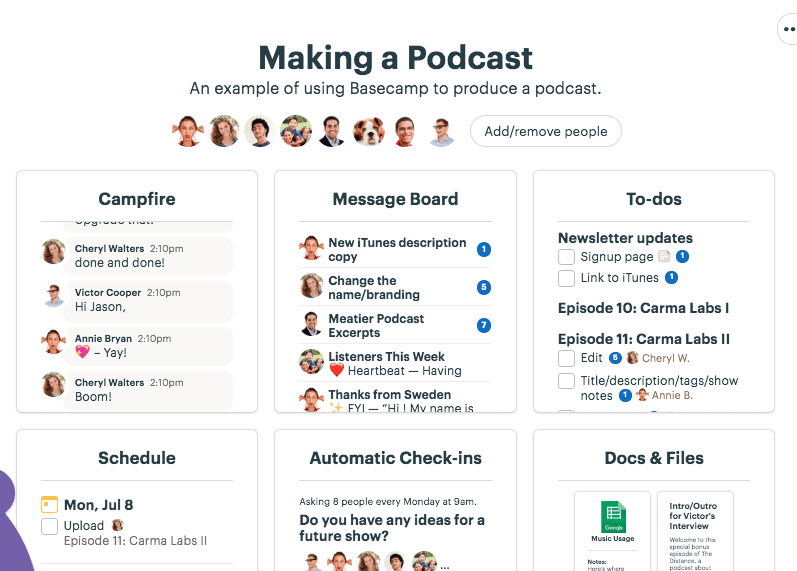 Basecamp projects