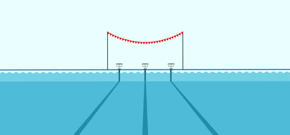 An illustration of a pool with swimming lanes, representing a sprint execution workflow.