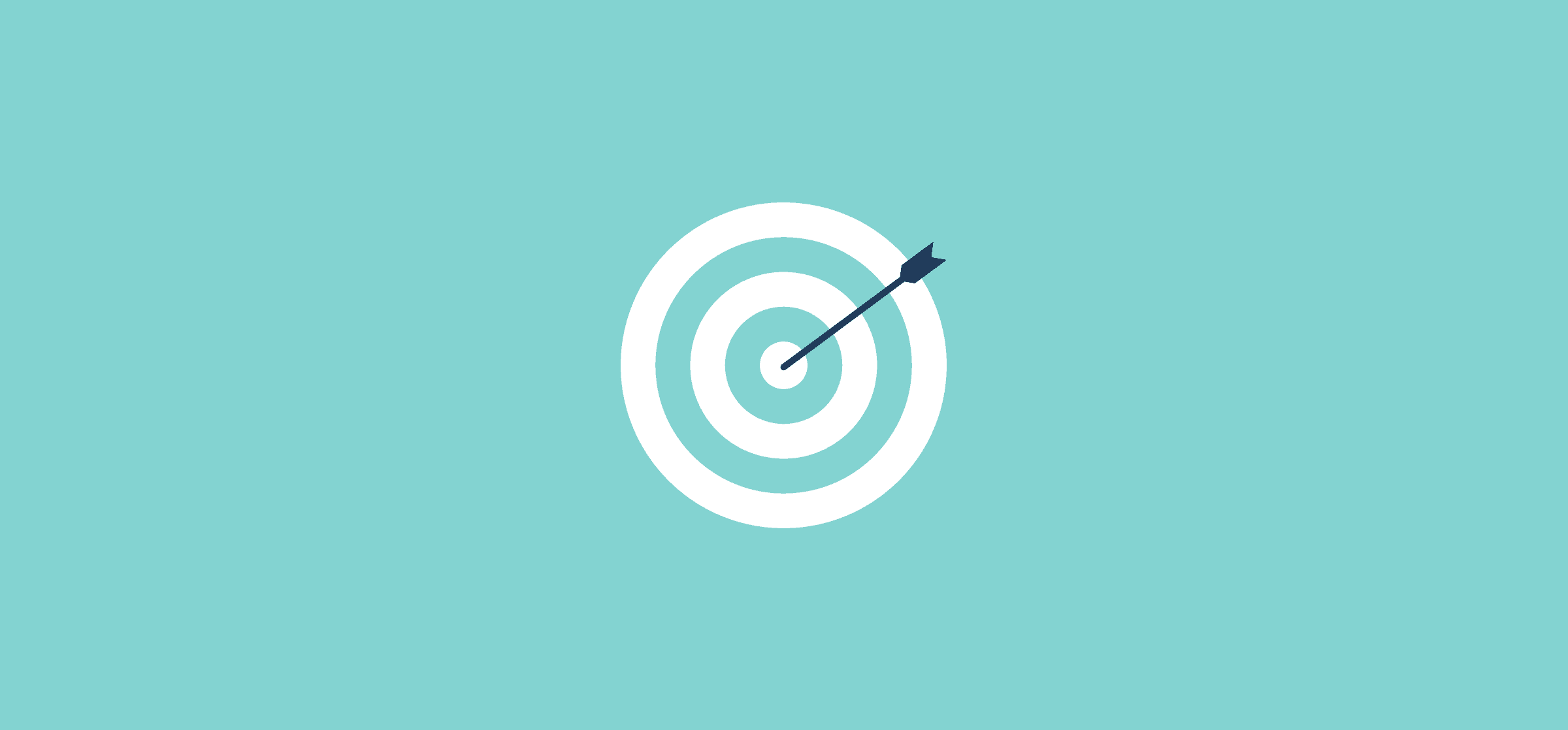 An arrow hitting a bullseye, representing project management tools and new year's resolutions