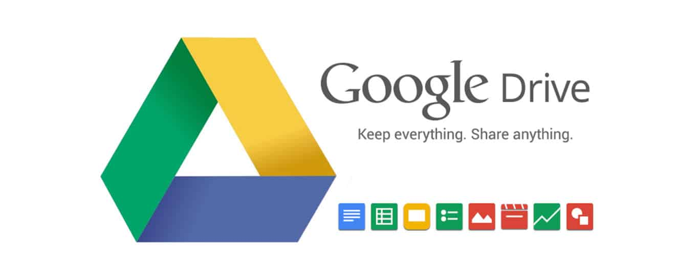 The logo for Google Drive, a remote work tool for cloud storage.