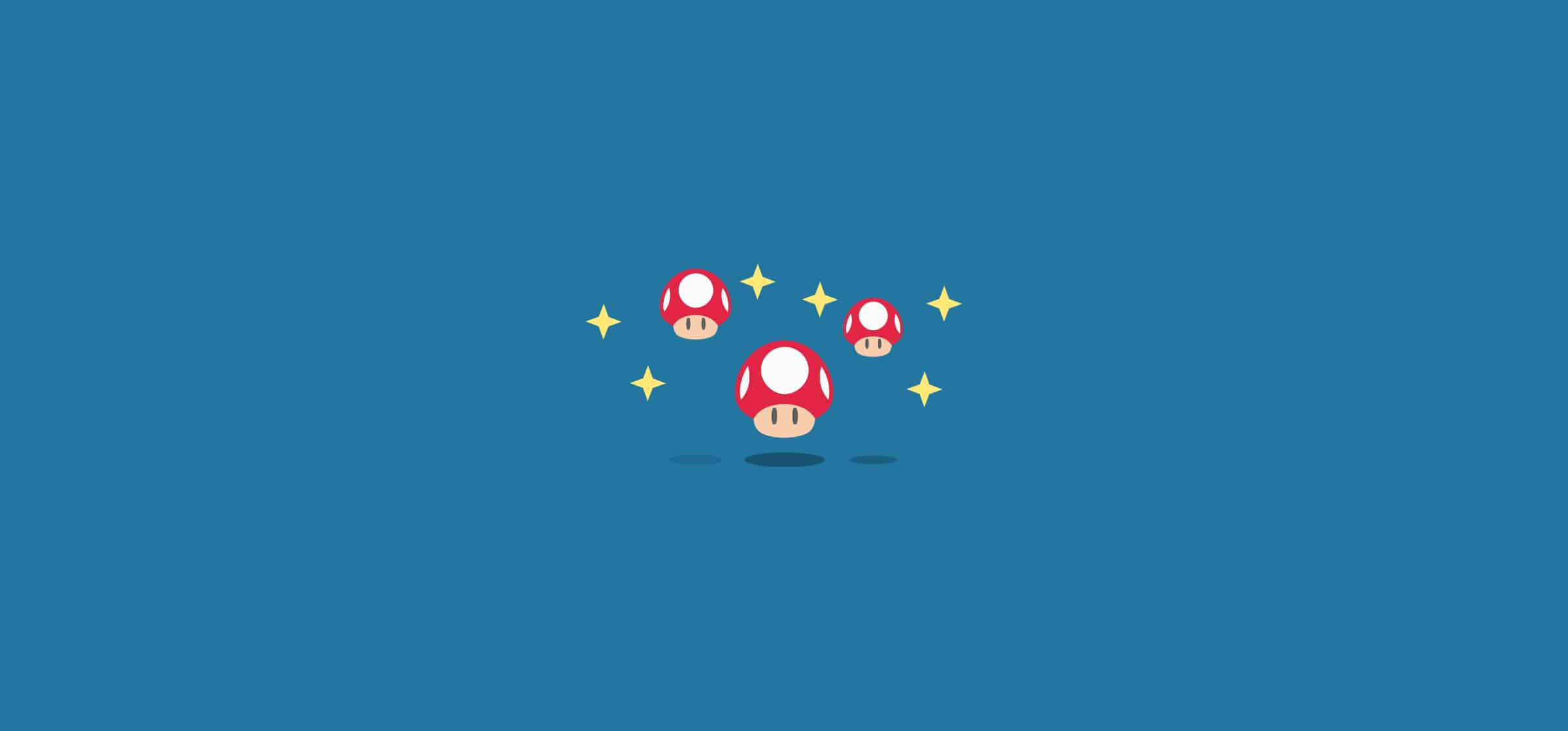 Red mushrooms from Mario Brothers, representing the best Trello Power-Ups