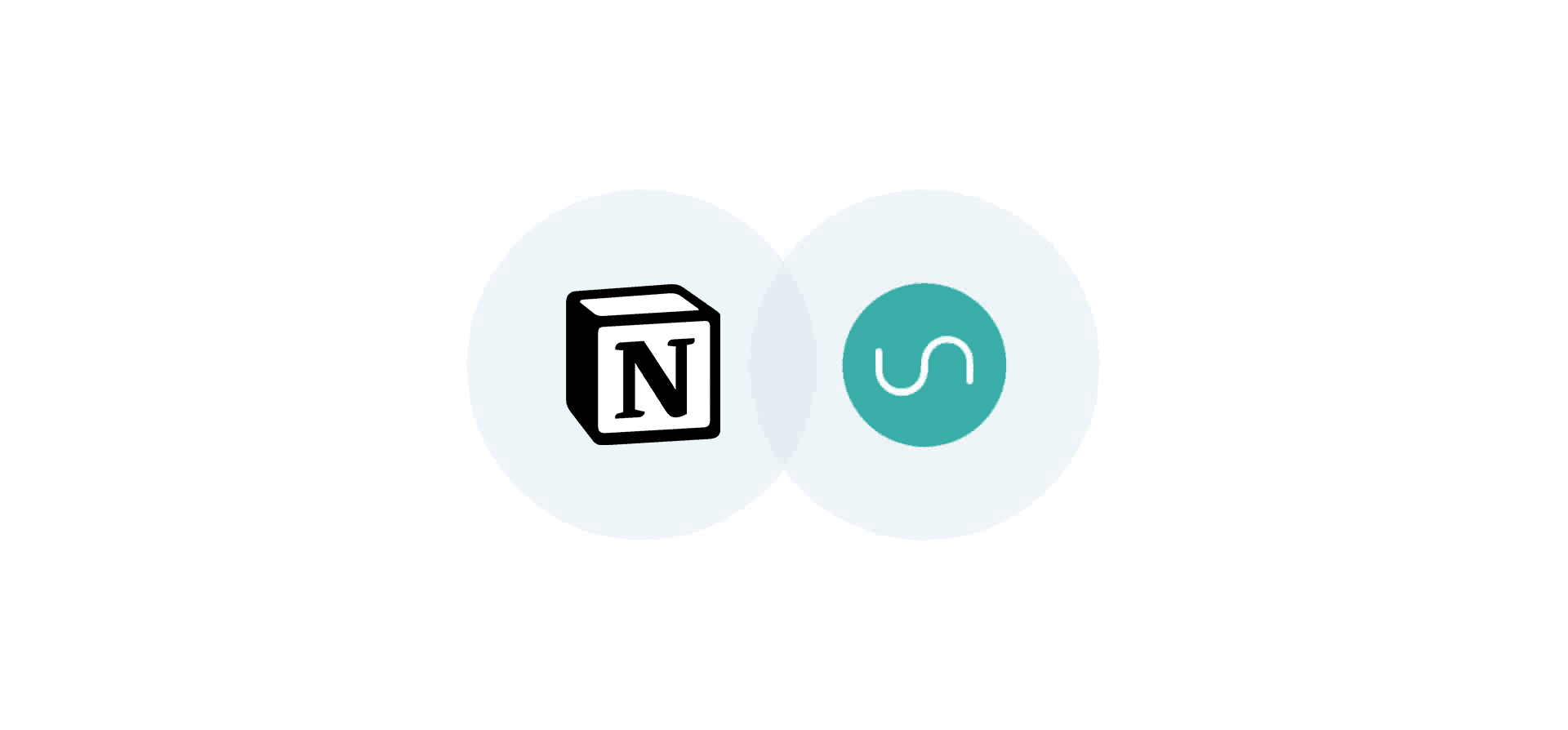 Logos for Notion and Unito, representing Unito's new Notion integration
